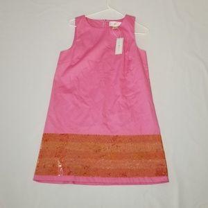JULIE BROWN Pink Orange Sleeveless Dress